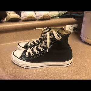 PreOwned Converse Hi top Black Women's 6.5